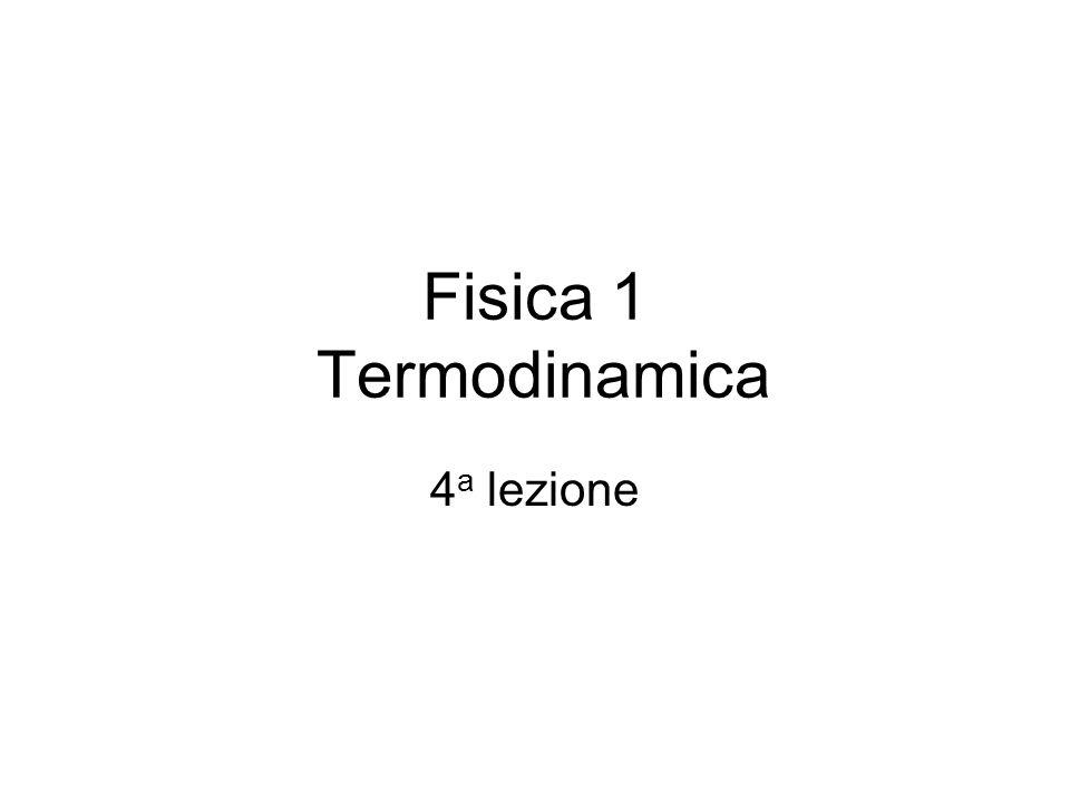 Fisica 1 Termodinamica 4 a lezione