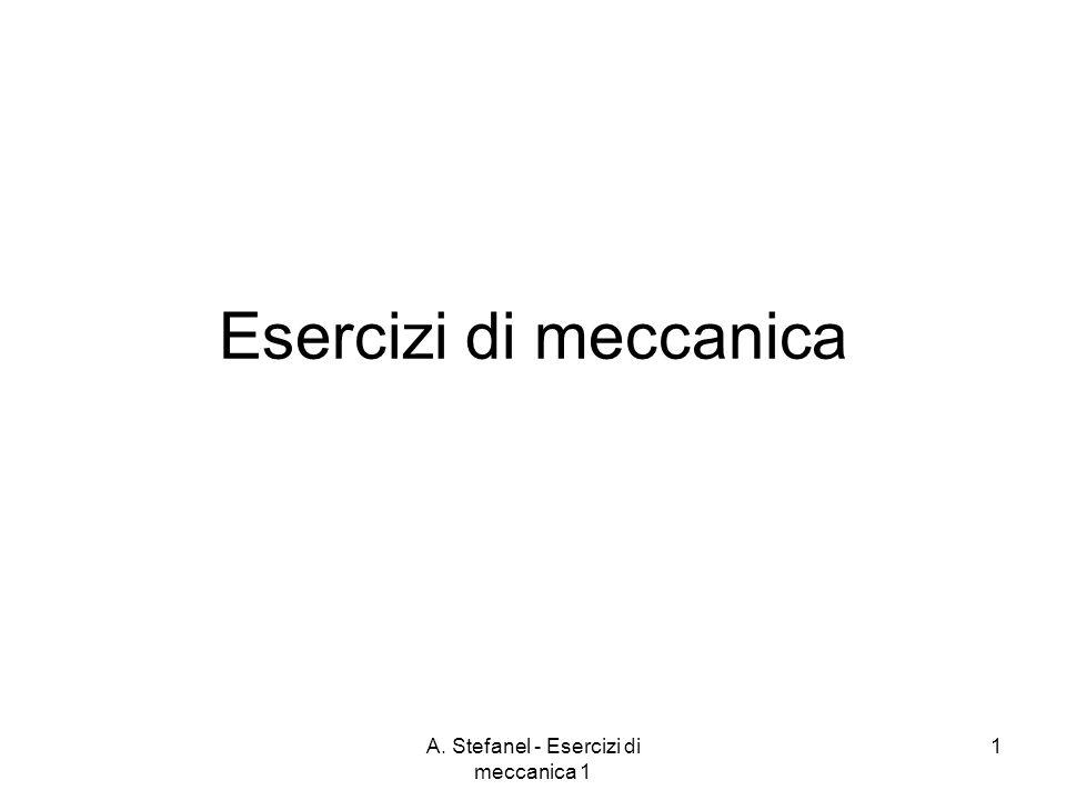 A. Stefanel - Esercizi di meccanica 1 1 Esercizi di meccanica