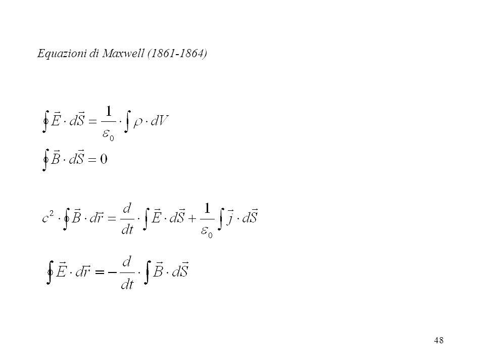 48 Equazioni di Maxwell (1861-1864)