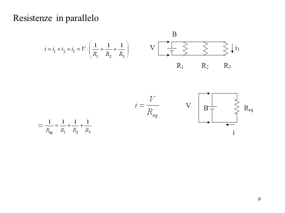 10 Un resistore di 4 e un resistore di 6 sono collegati in parallelo, e ai capi del sistema è applicata una differenza di potenziale di 12 V.