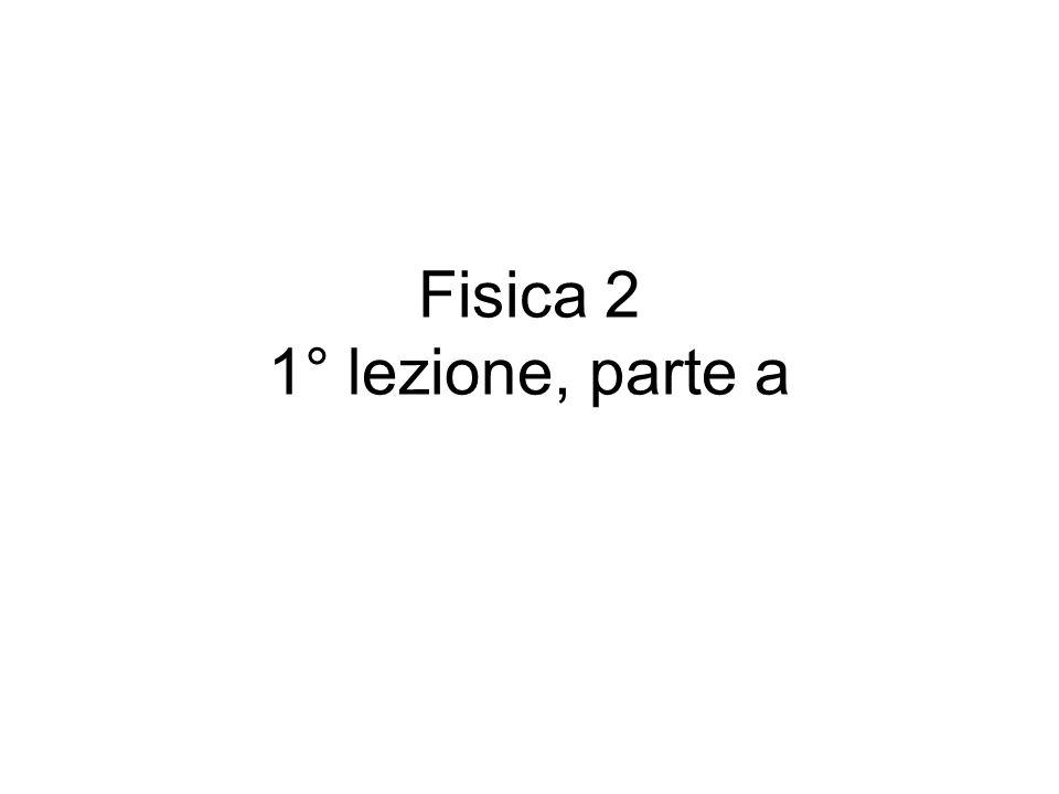 Fisica 2 1° lezione, parte a