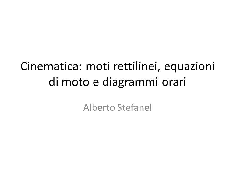 Cinematica: moti rettilinei, equazioni di moto e diagrammi orari Alberto Stefanel