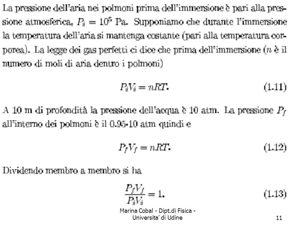 Marina Cobal - Dipt.di Fisica - Universita di Udine11 Soluzione