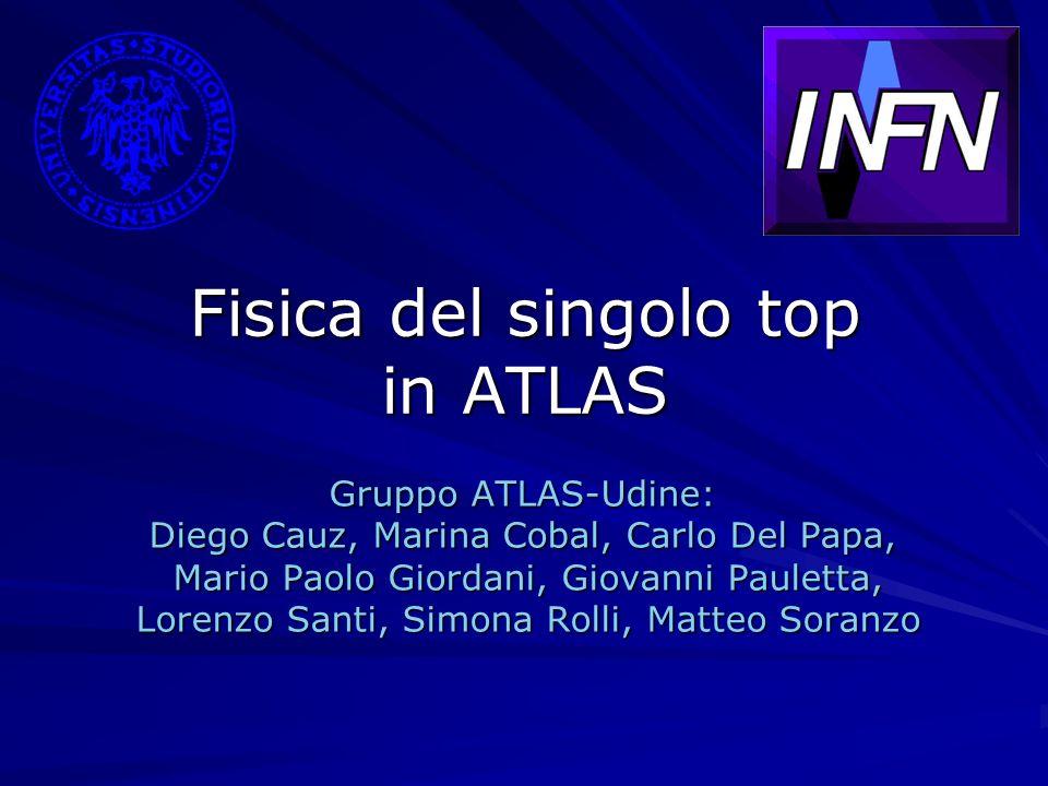 Fisica del singolo top in ATLAS Gruppo ATLAS-Udine: Diego Cauz, Marina Cobal, Carlo Del Papa, Mario Paolo Giordani, Giovanni Pauletta, Mario Paolo Gio