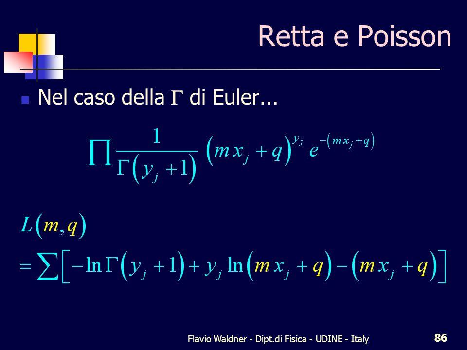 Flavio Waldner - Dipt.di Fisica - UDINE - Italy 86 Retta e Poisson Nel caso della di Euler...