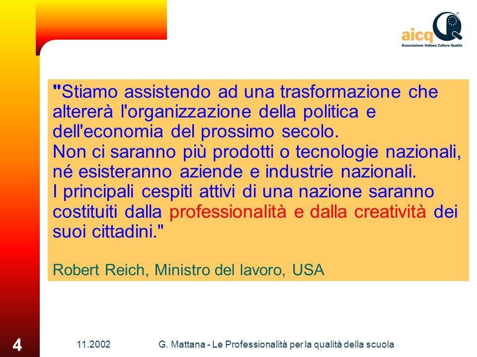 11.2002G. Mattana - Le Professionalità per la qualità della scuola 4