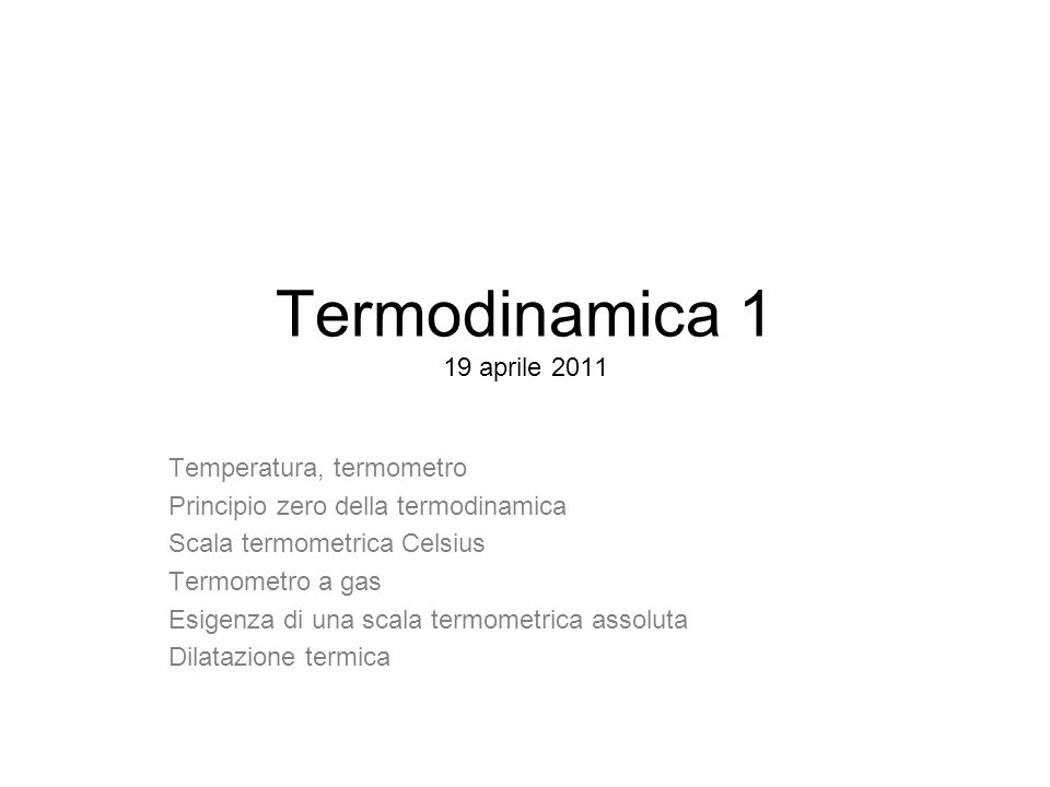Altre scale termometriche Scala Réaumur Scala Fahrenheit 12