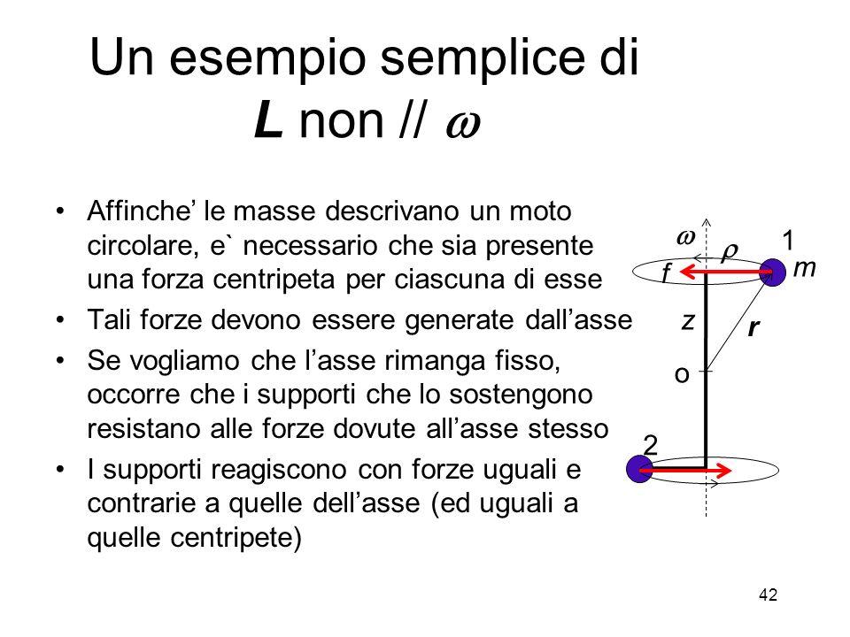 Affinche le masse descrivano un moto circolare, e` necessario che sia presente una forza centripeta per ciascuna di esse Tali forze devono essere gene