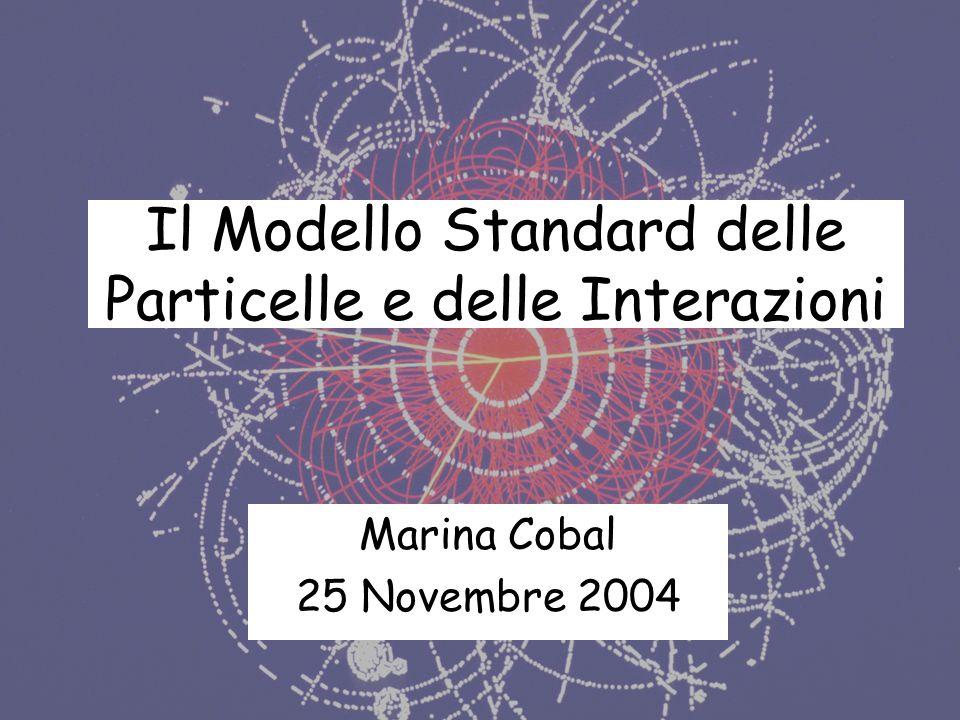 Il Modello Standard delle Particelle e delle Interazioni Marina Cobal 25 Novembre 2004
