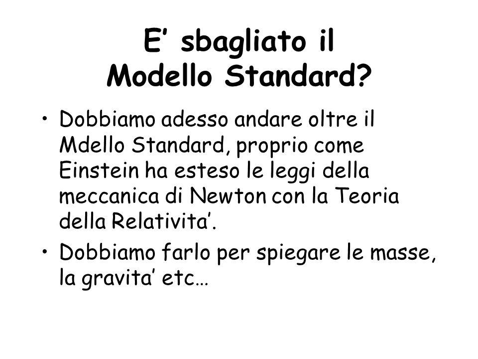 E sbagliato il Modello Standard? Dobbiamo adesso andare oltre il Mdello Standard, proprio come Einstein ha esteso le leggi della meccanica di Newton c