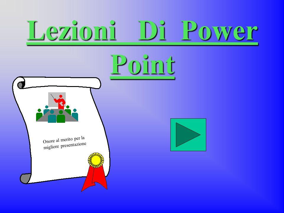 Lezioni Di Power Point Onore al merito per la migliore presentazione