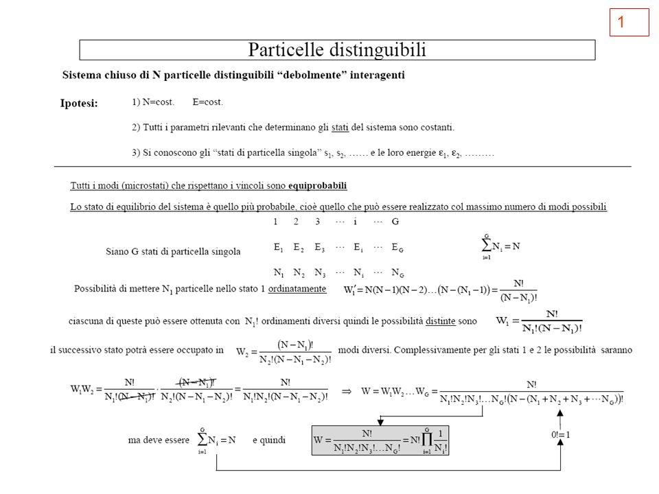 2 Calcoliamo il numero di microstati W corrispondenti allultimo stato Questo stato si può realizzare in 120 modi differenti