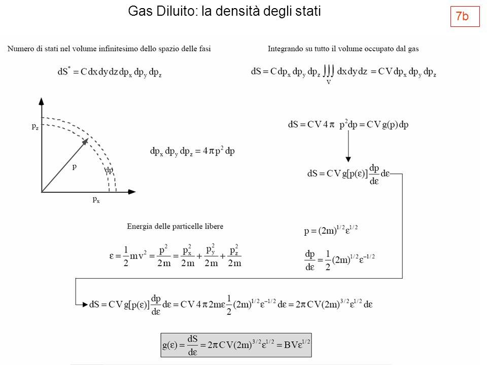 La distribuzione di energia di Maxwell-Boltzmann Dato un sistema di N particelle di un gas ideale, vogliamo ricavare n( )d, ovvero il numero di molecole con energia compresa tra e +d Sostituendo otteniamo Dove C è una costante che può essere ricavata imponendo le condizioni di normalizzazione Da cui g( )d è la molteplicità di stati con energia compresa tra e +d f( ) è la distribuzione di Maxwell- Boltzmann Pertanto