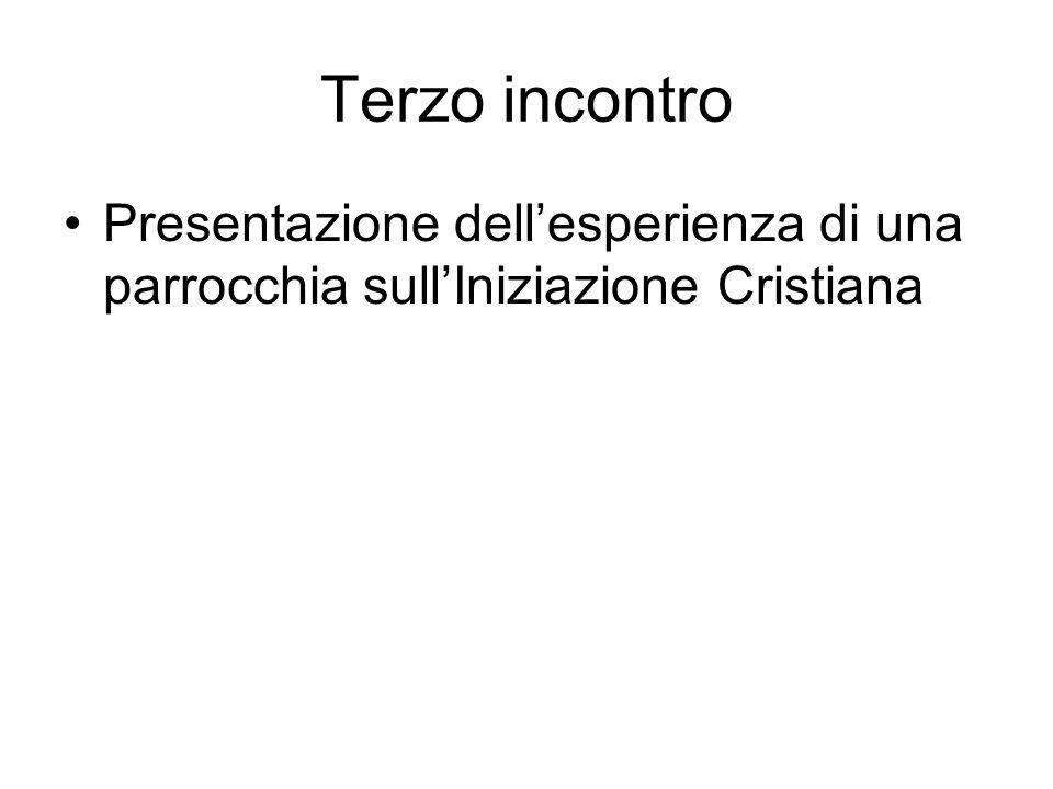 Terzo incontro Presentazione dellesperienza di una parrocchia sullIniziazione Cristiana