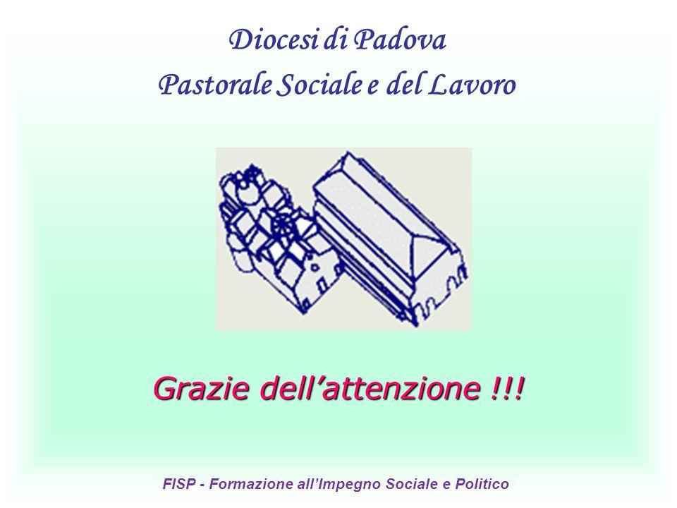 Grazie dellattenzione !!! Diocesi di Padova Pastorale Sociale e del Lavoro FISP - Formazione allImpegno Sociale e Politico