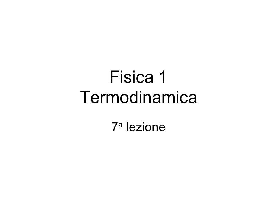 Fisica 1 Termodinamica 7 a lezione