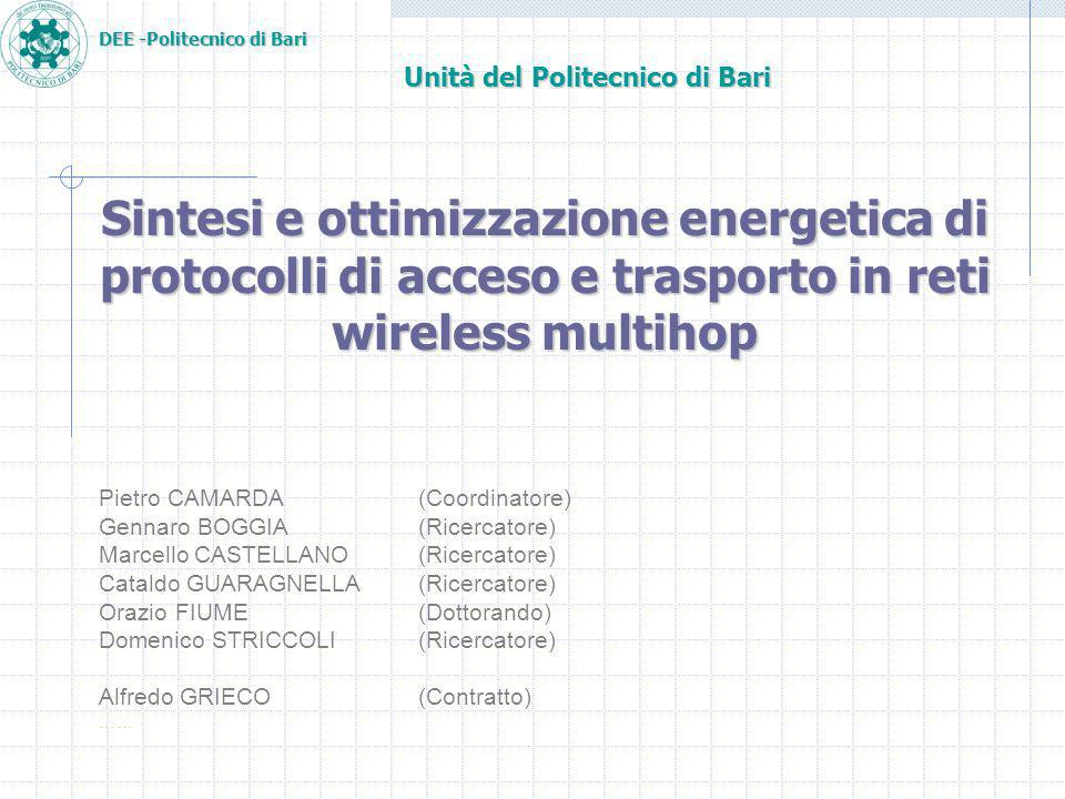DEE -Politecnico di Bari Results: Energy/Throughput 15 Stations