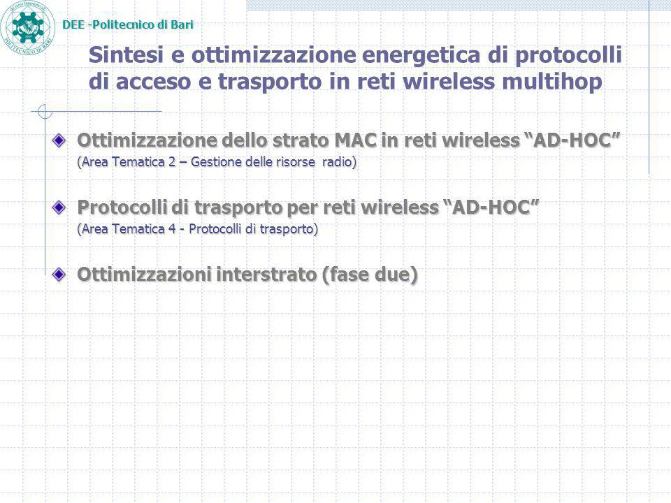 DEE -Politecnico di Bari Results: Energy/Throughput 25 stations