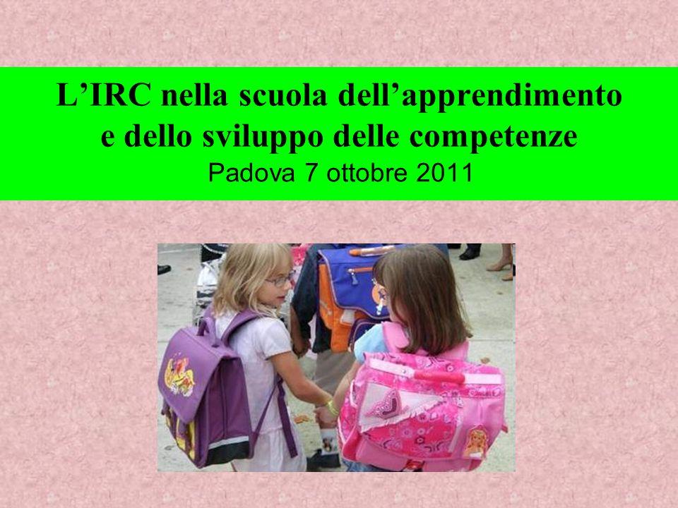 Ma la valenza educativa dellIRC non è confinata e confinabile nel ristretto monteore del suo insegnamento.