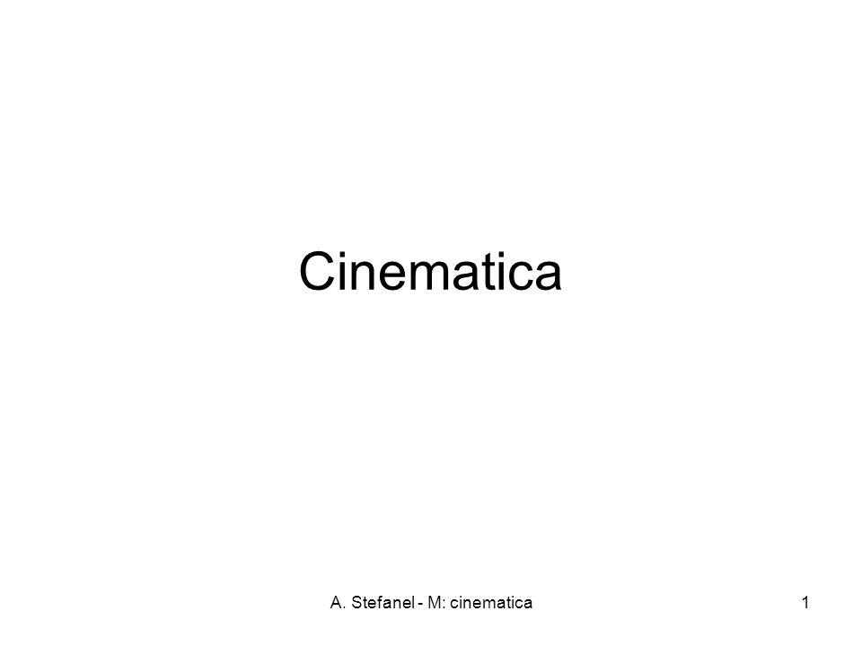 A. Stefanel - M: cinematica1 Cinematica