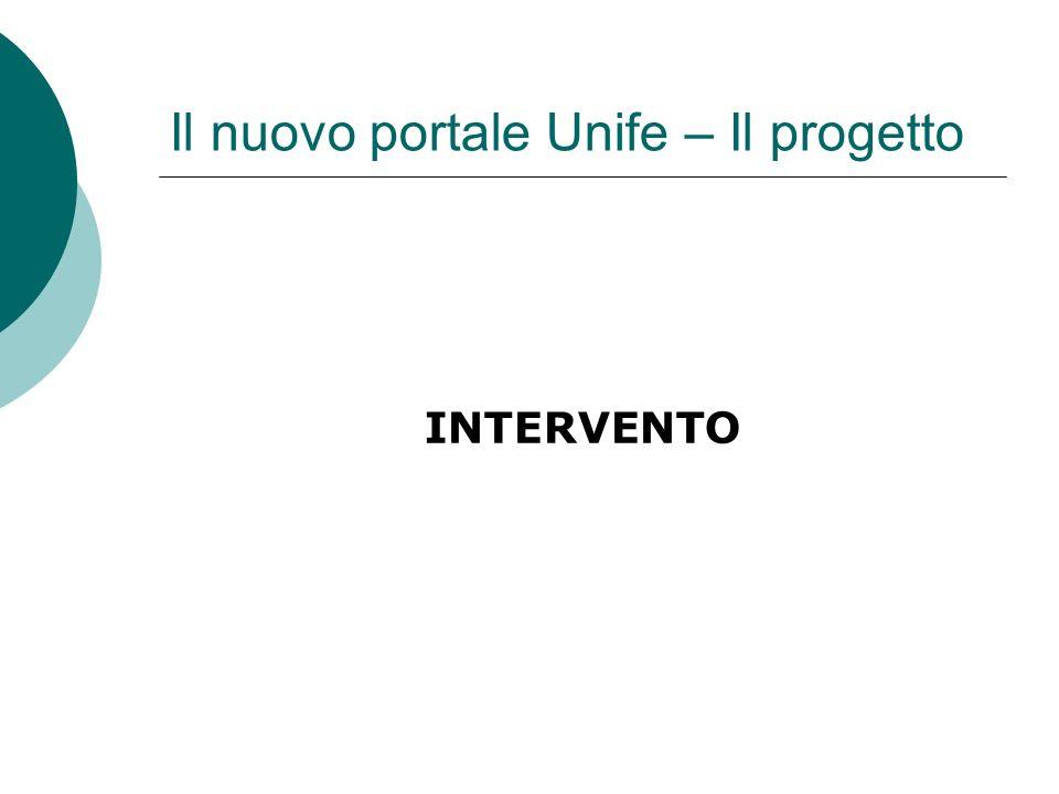 Il nuovo portale Unife – Il progetto INTERVENTO
