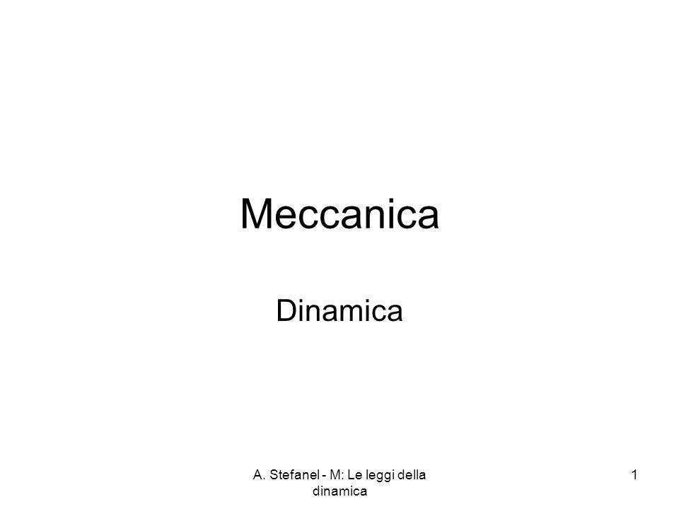 A. Stefanel - M: Le leggi della dinamica 1 Meccanica Dinamica