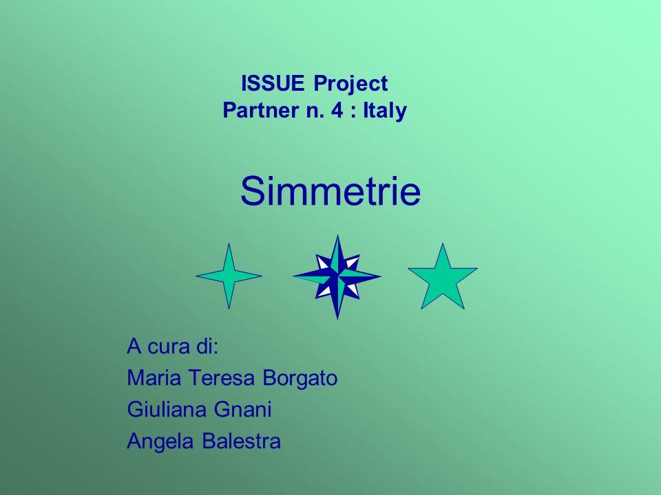 Simmetrie A cura di: Maria Teresa Borgato Giuliana Gnani Angela Balestra ISSUE Project Partner n. 4 : Italy