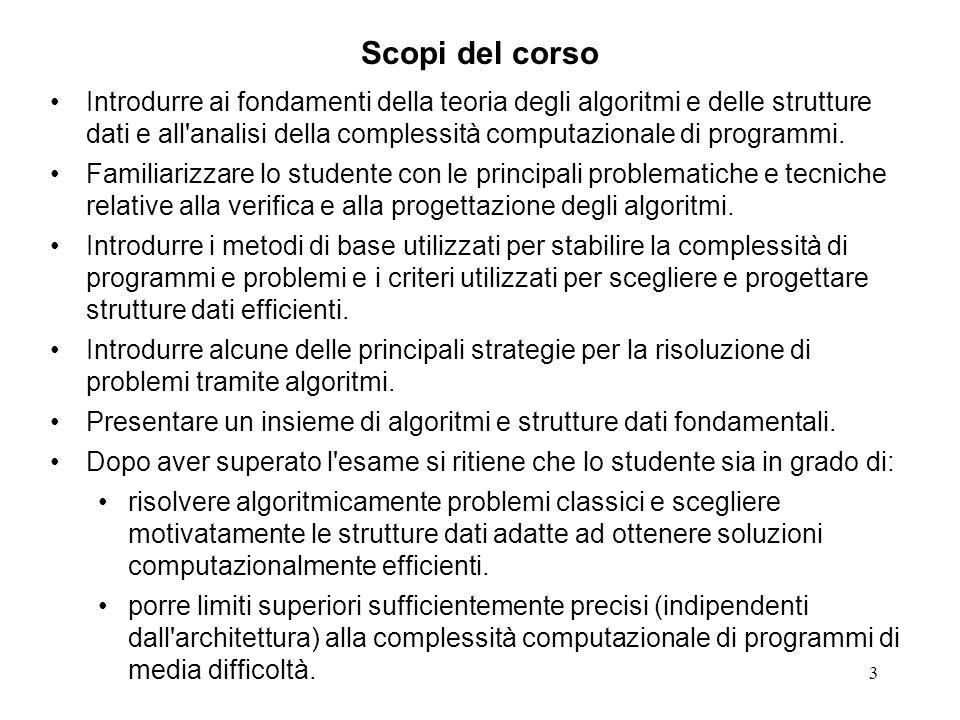 14 Bibliografia Le dispense del corso sono disponibili in copia elettronica sul sito: http://dm.unife.it/~salati.