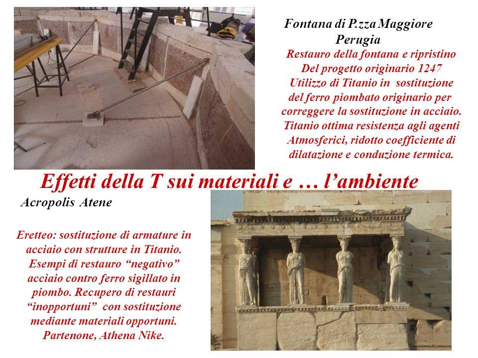 Fontana di P.zza Maggiore Perugia Restauro della fontana e ripristino Del progetto originario 1247 Utilizzo di Titanio in sostituzione del ferro piomb