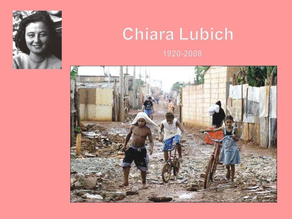 NASCE NEL 1991: Chiara durante un viaggio in Brasile di fronte alla realtà dei poveri sempre più poveri e dei ricchi sempre più ricchi lancia un progetto che coinvolgerà nel tempo centinaia di imprese e aziende nel mondo.