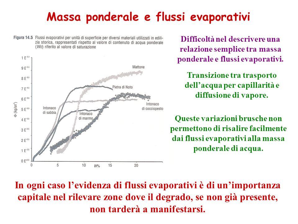 Difficoltà nel descrivere una relazione semplice tra massa ponderale e flussi evaporativi.