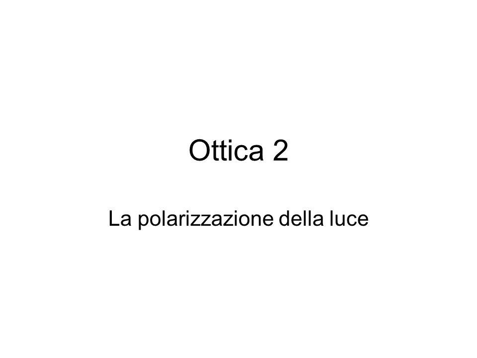 Ottica 2 La polarizzazione della luce