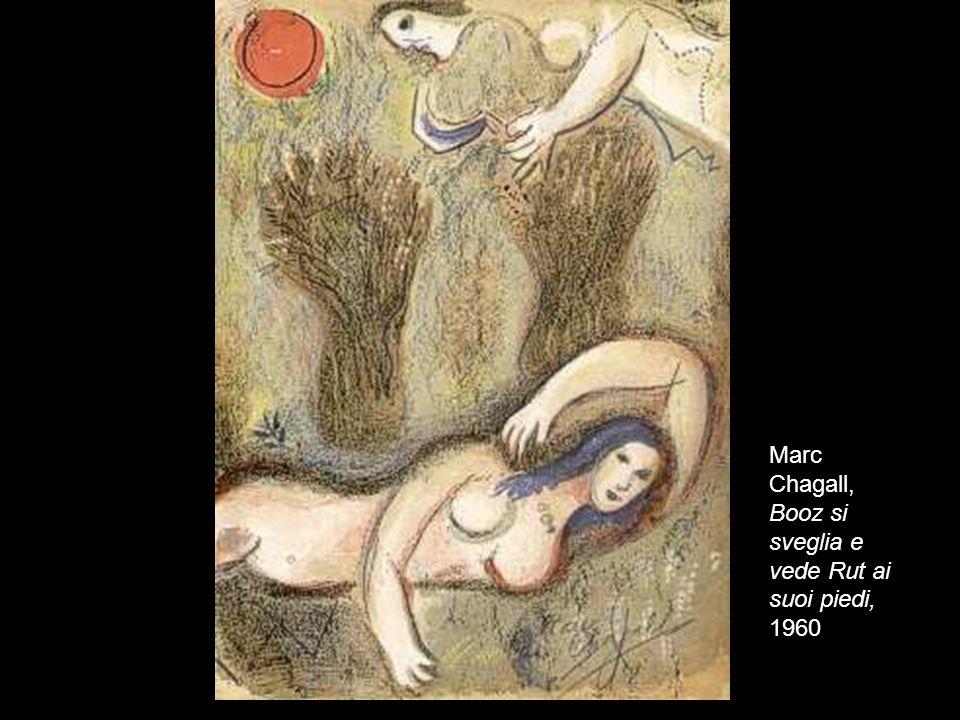 23 Marc Chagall, Booz si sveglia e vede Rut ai suoi piedi, 1960