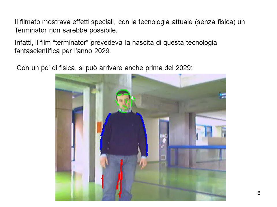 6 Il filmato mostrava effetti speciali, con la tecnologia attuale (senza fisica) un Terminator non sarebbe possibile. Infatti, il film terminator prev