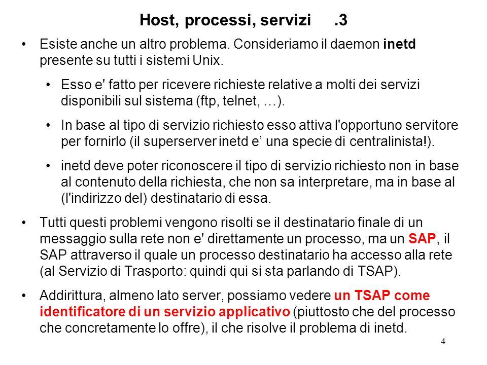 4 Host, processi, servizi.3 Esiste anche un altro problema.