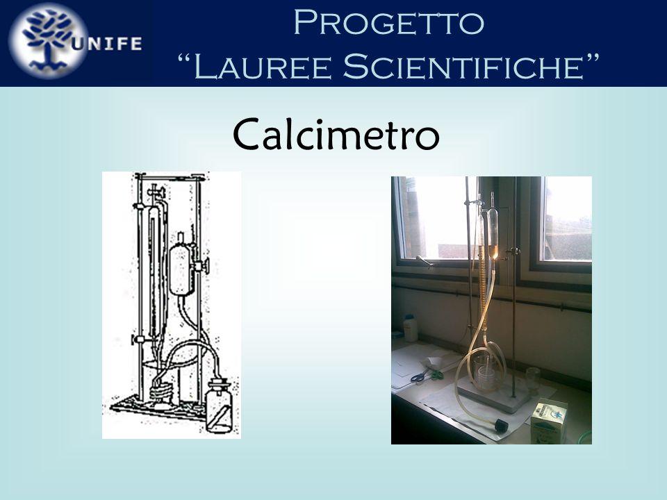 Progetto Lauree Scientifiche È una apparecchiatura che consente di determinare la quantità di gas che si sviluppa in una reazione chimica di spostamento.