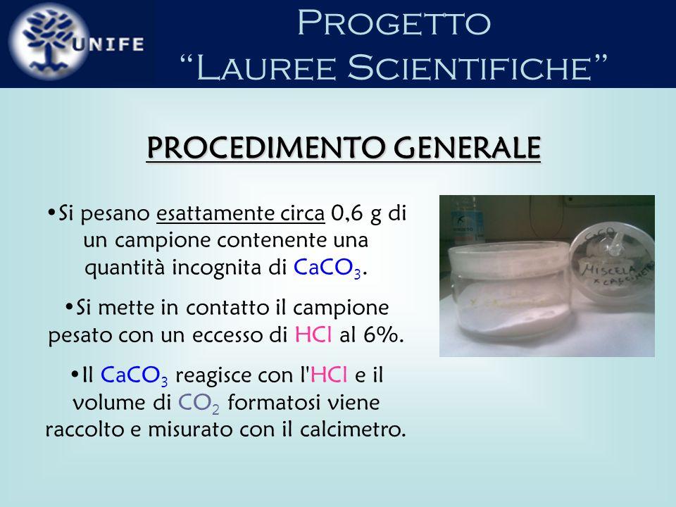 Progetto Lauree Scientifiche Con il recipiente R aperto e con il rubinetto C aperto, manovrando la boccia A si porta a zero il livello del liquido battente, (solitamente acqua acidulata cui si è aggiunto un indicatore).
