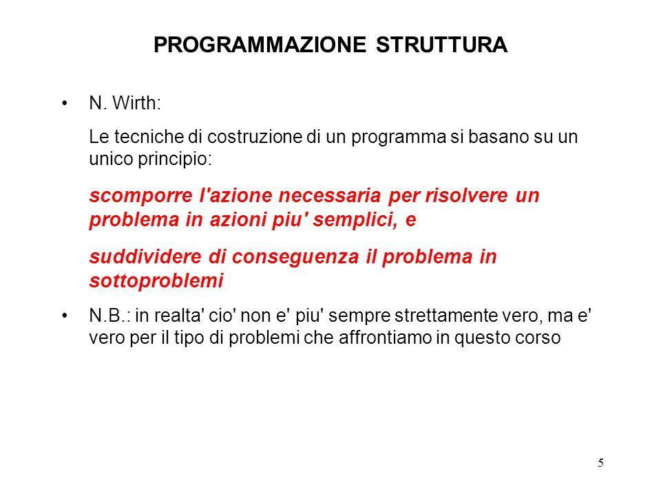 5 PROGRAMMAZIONE STRUTTURA N.