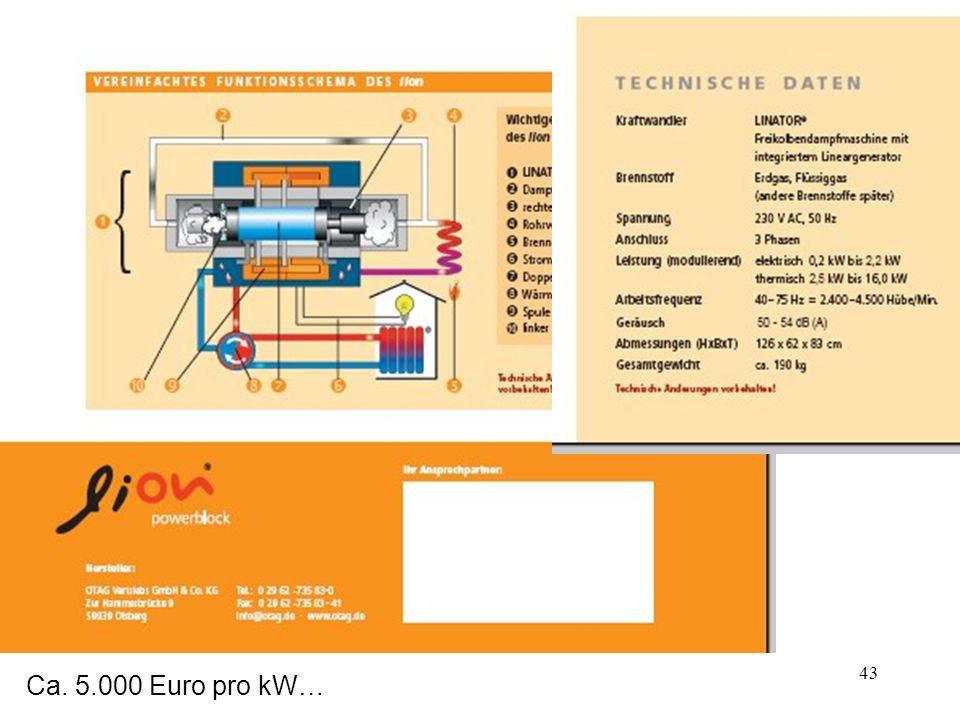 43 Ca. 5.000 Euro pro kW…