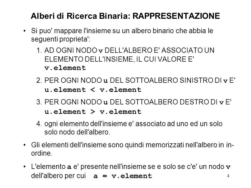 15 Cancellazione di un elemento - 1 void nonEmptyDelete (nodeRef *father, nodeRef tree, elementName el) { // P = { el tree } if (tree->element != el) if (el element) { assert(tree->leftSon != NULL); nonEmptyDelete(&(tree->leftSon), tree->leftSon, el); } else { // (el > tree->element) assert(tree->rightSon != NULL); nonEmptyDelete(&(tree->rightSon), tree->rightSon, el); } // end if (el element) else // (tree->element == el) // continua alla pagina seguente