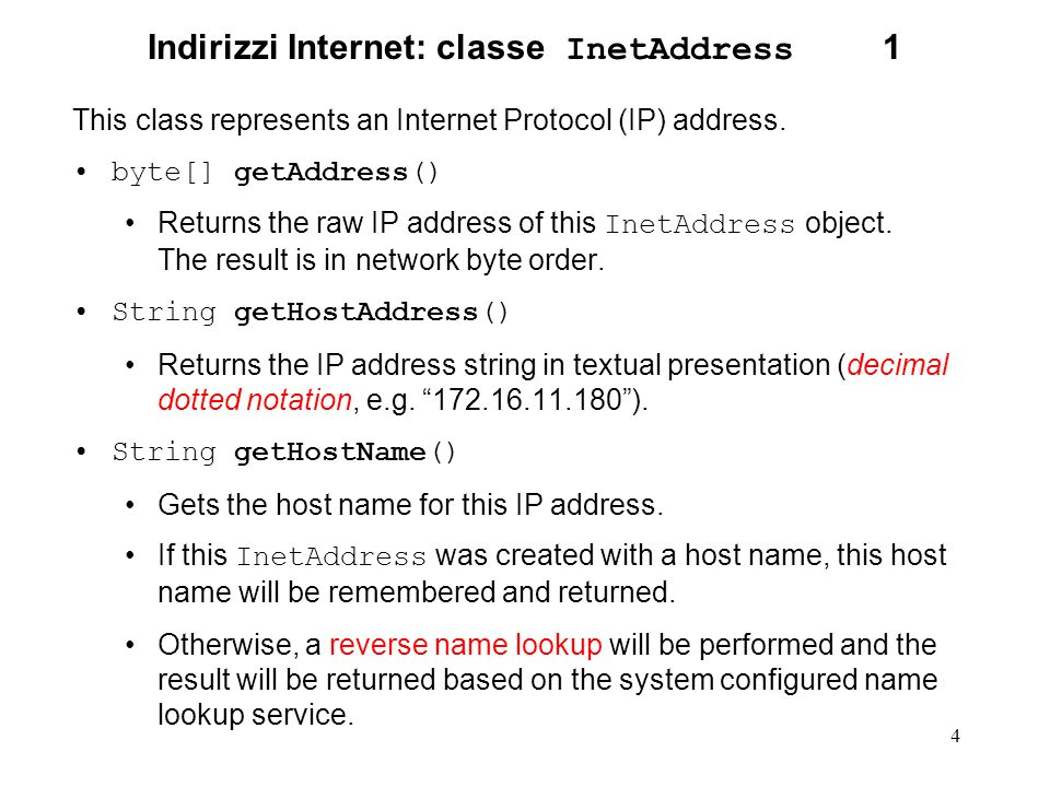 25 Classe InputStream.1.2 public void close() throws IOException Closes this input stream and releases any system resources associated with the stream.