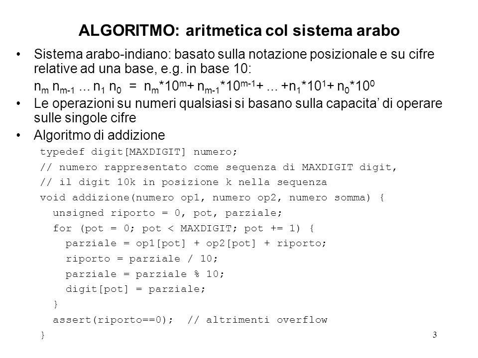 14 ALGORITMO DI EUCLIDE1b assert((i1>0) && (i2>0)); assert((k1>0) && (k2>0)); if (k2>k1) { r = k1; k1 = k2; k2 = r; } 06 assert((k1>=k2) && (k2>0)); r = k1 % k2; 07 while (r!=0) { 08 k1 = k2; 09 k2 = r; 10 r = k1 % k2; 11 } 12 gcd = k2; 13 return(gcd); 14 } 15