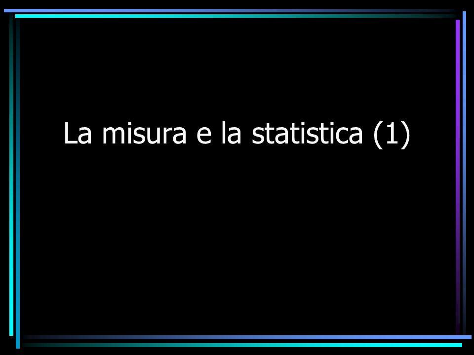 La misura e la statistica (1)