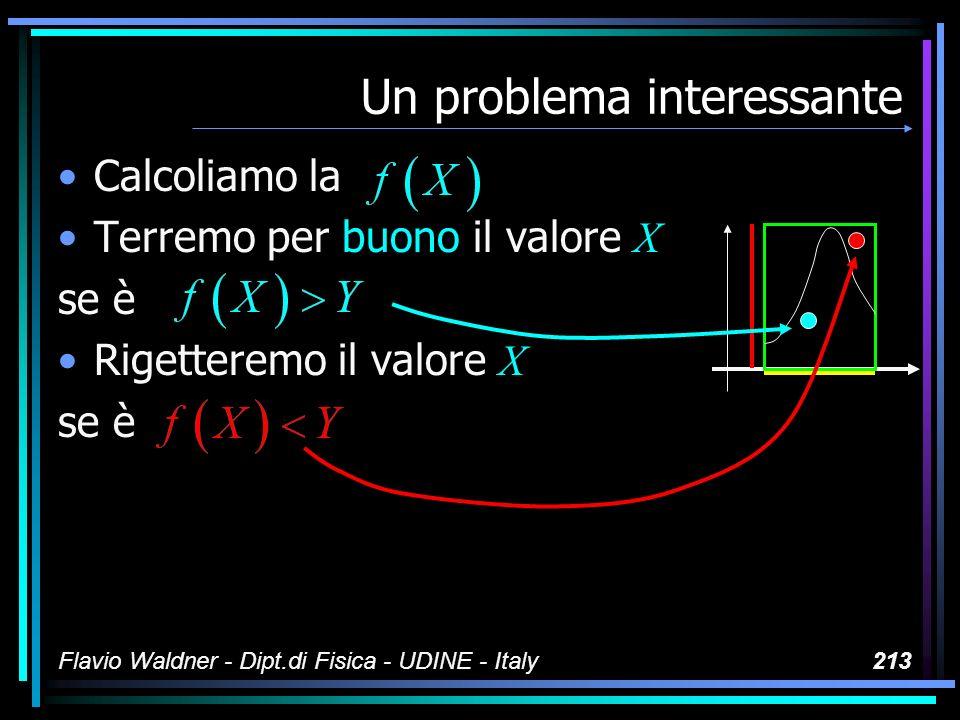 Flavio Waldner - Dipt.di Fisica - UDINE - Italy213 Un problema interessante Calcoliamo la Terremo per buono il valore X se è Rigetteremo il valore X s