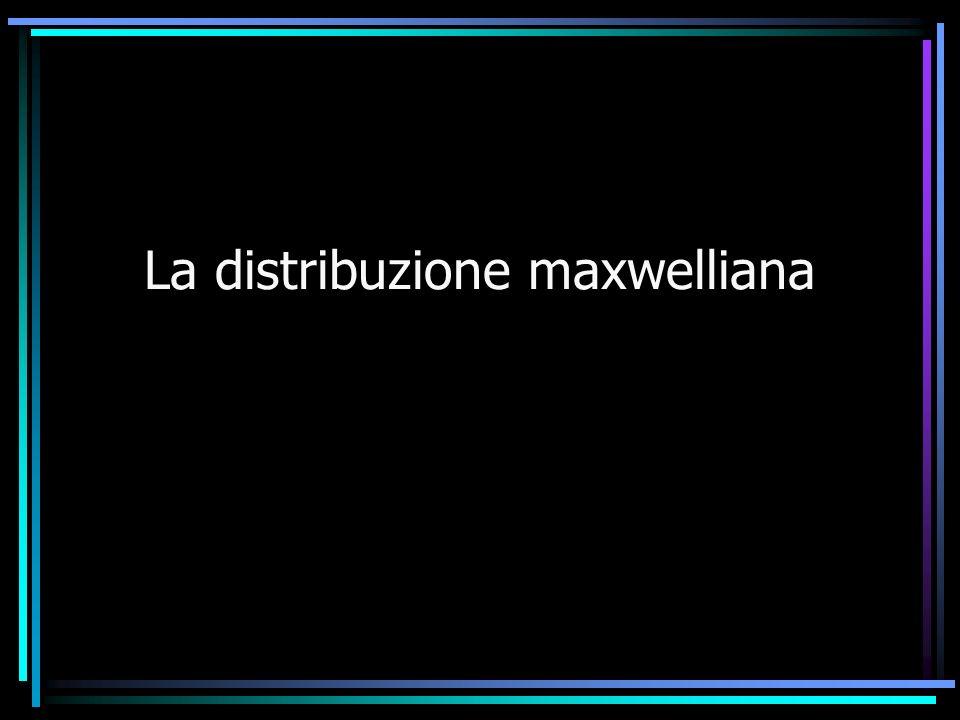 La distribuzione maxwelliana