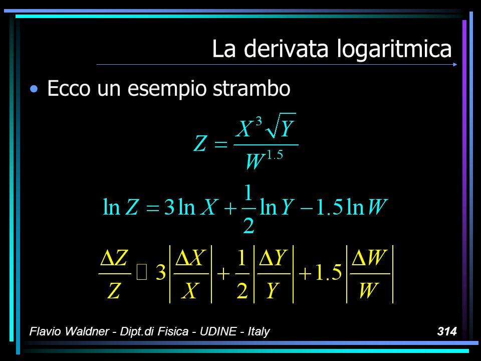 Flavio Waldner - Dipt.di Fisica - UDINE - Italy314 La derivata logaritmica Ecco un esempio strambo
