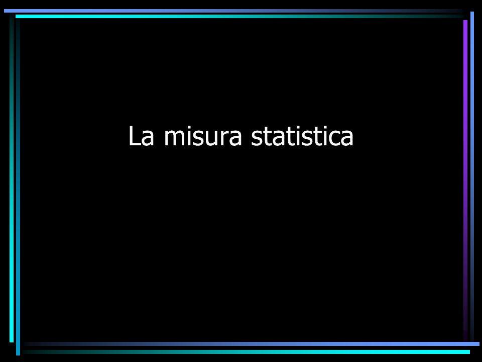 La misura statistica