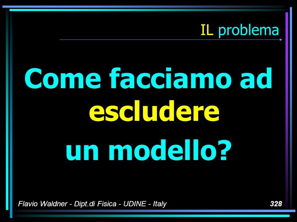 Flavio Waldner - Dipt.di Fisica - UDINE - Italy328 IL problema Come facciamo ad escludere un modello?