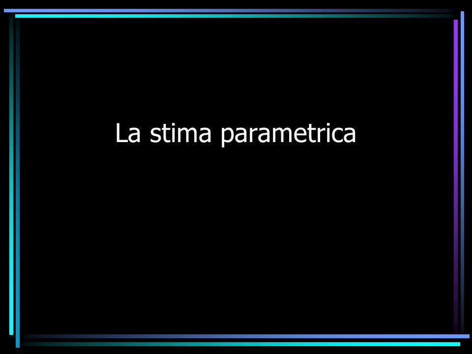 La stima parametrica