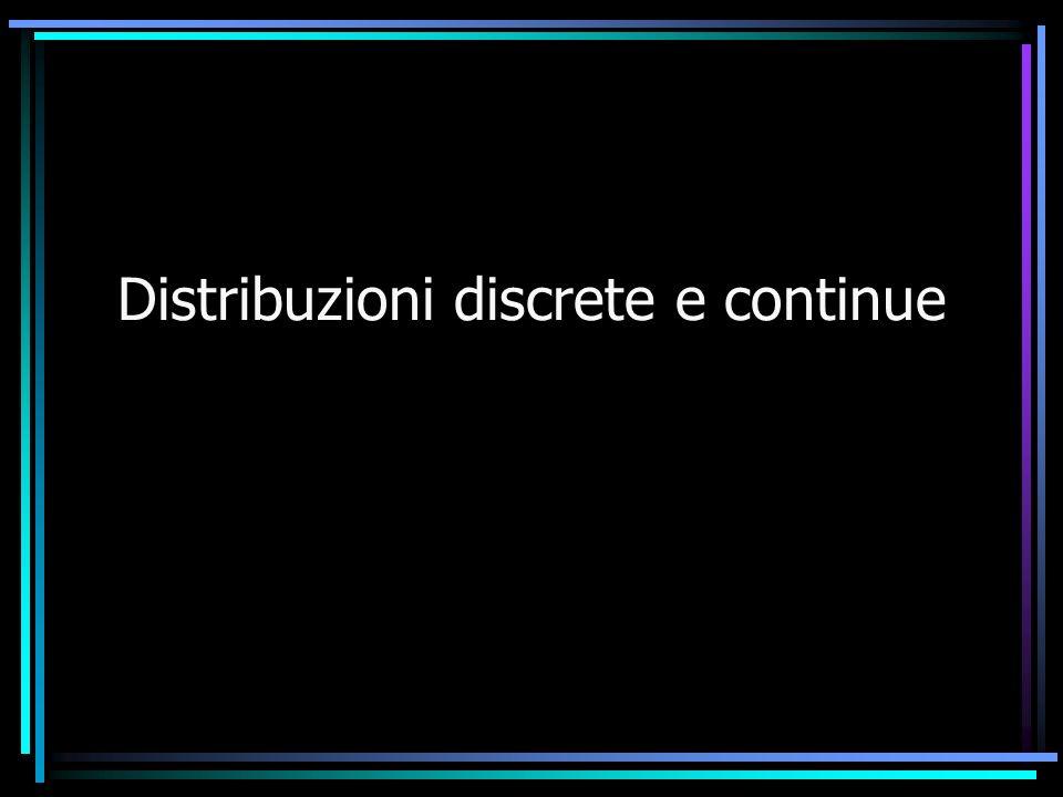 Distribuzioni discrete e continue